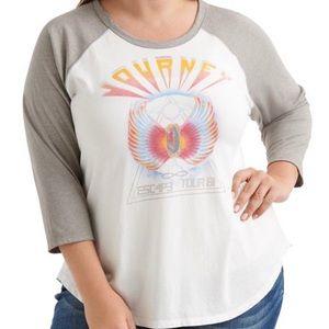 Lucky Brand Journey Graphic Baseball T Shirt NWT